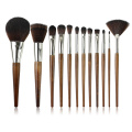 Synthetic Hair Makeup Brush Set with Wooden Handle