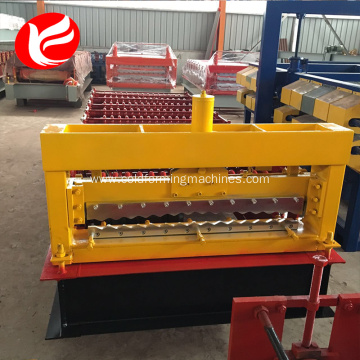 Metal roofing steel corrugated roof panel rolled machine