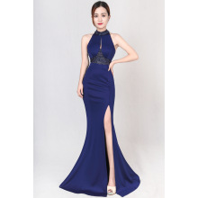 Bridal toast 2017 autumn fashion long fish tail hanging neck wedding party evening dress skirt