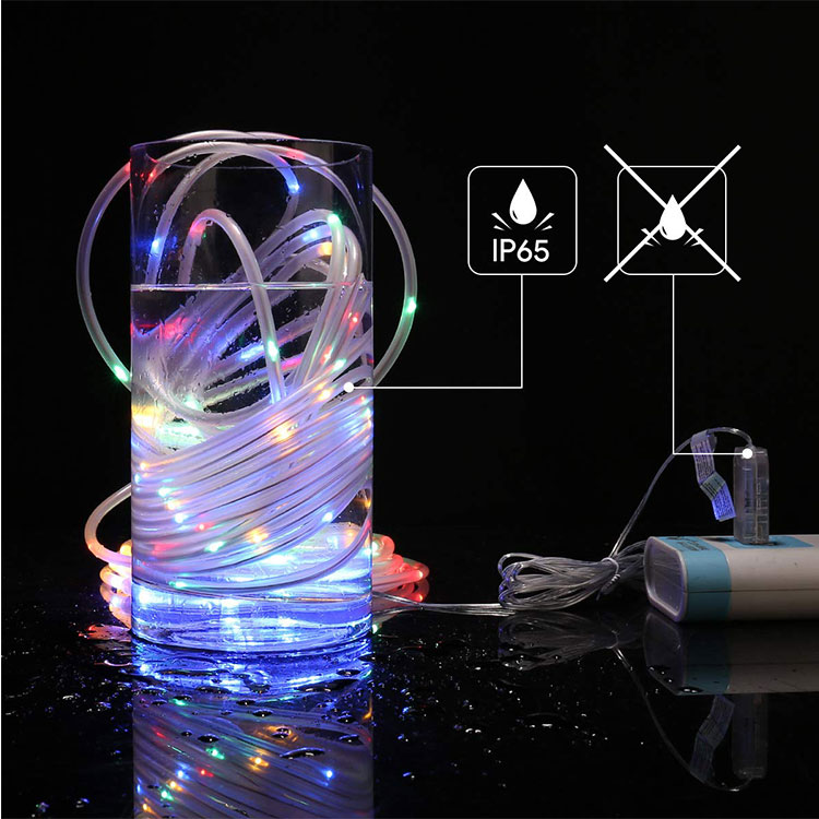 multicolor rope light decoration