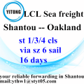 Shantou to Oakland LCL BULK operations services