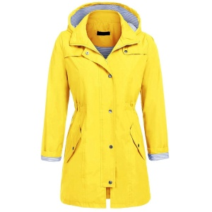 Quality for Adult PVC Raincoat Womens Lightweight Hooded Waterproof Rain Jacket supply to Grenada Importers