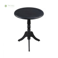 Round Black Full Solid Wood CoffeTable