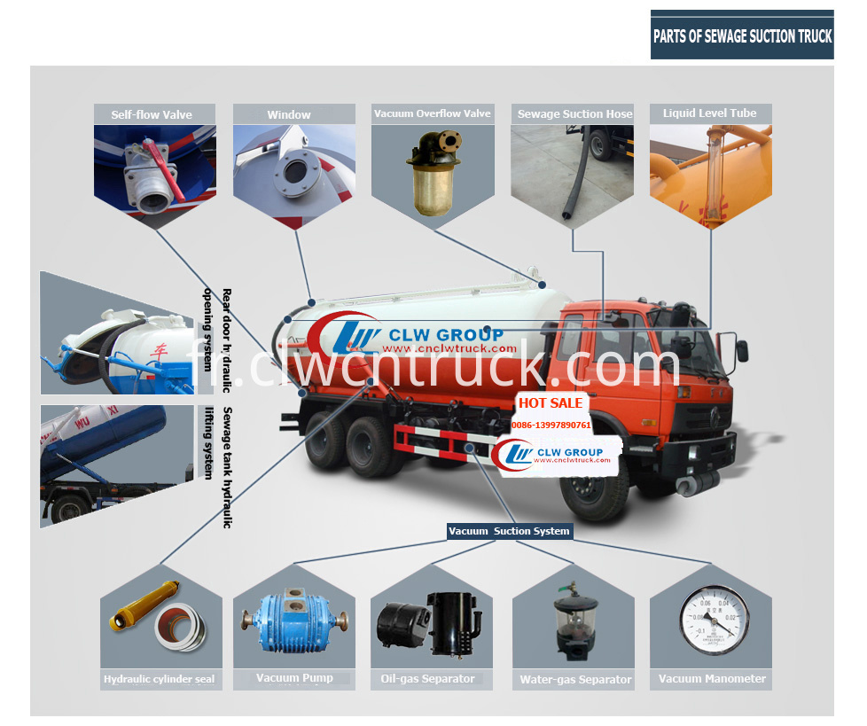 vacuum suction truck part