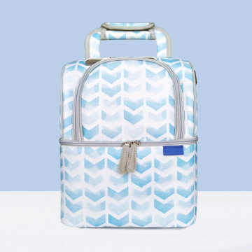 Unisex Blue Waterproof Insulated Lunch Bag Cooler Backpack