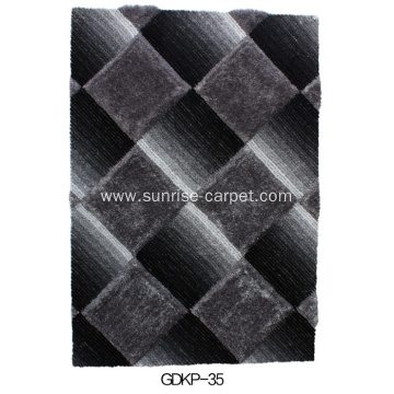 Polyester Soft and Silk Shaggy 3D&4D Rug