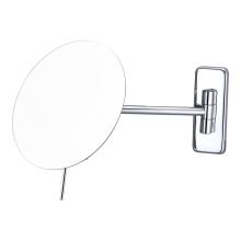 Frameless extending round bathroom mirrors