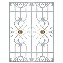 Lucky Knot aluminum window grille