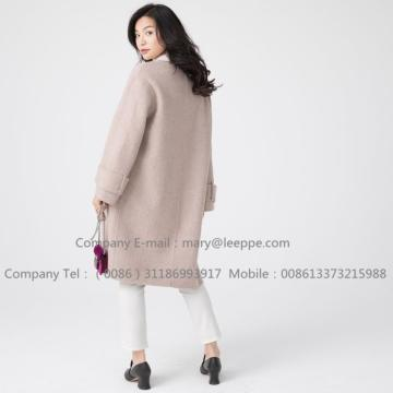 Quality for Woman'S Warm Cashmere Overcoat Women Sully Alpaca Pug Cashmere Medium Coat supply to Russian Federation Manufacturer