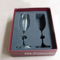 custom Horizon wine glasses EVA foam inserts