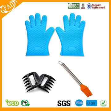 Top for Silicone BBQ Meat Claw,Meat Shredding Claws,Pulled Pork Claws Silicone BBQ /Cooking Gloves  Silicone Basting Brush export to Niger Exporter