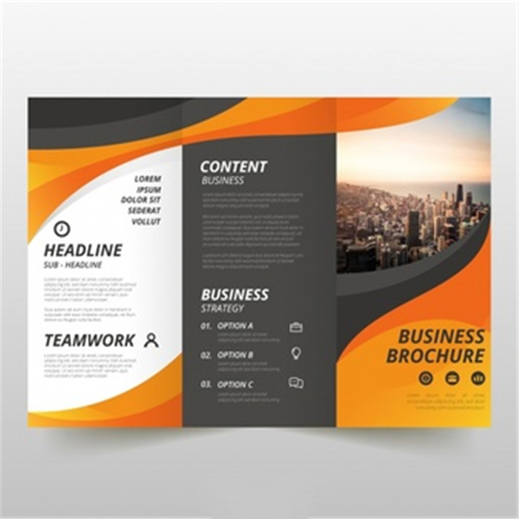Tri Fold A4 Booklet Printing Colorful Company Brochure