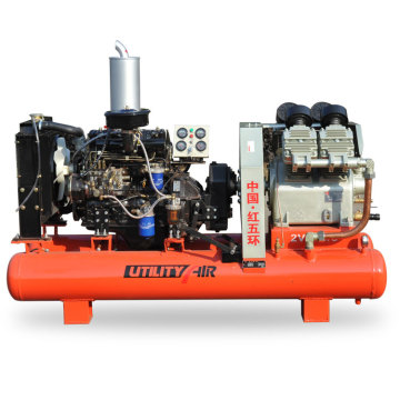 2V-4.0/5C diesel piston air compressor for mining