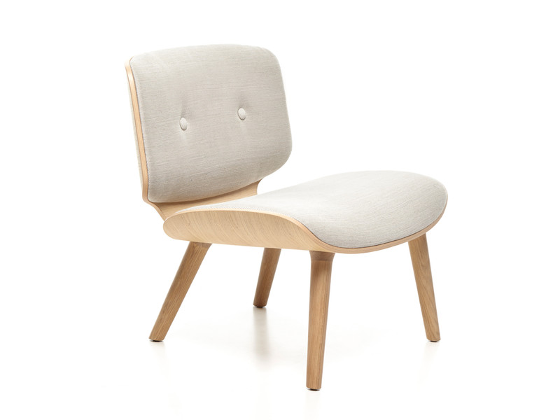 Nut lounge chair with ottoman
