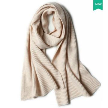 70% Wool 30% Cashmere Knitted Scarf