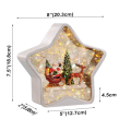 Star water lantern with Santa