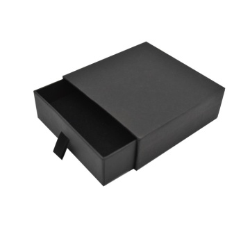 Drawer Style Black Paper Jewelry Packaging Earring Box