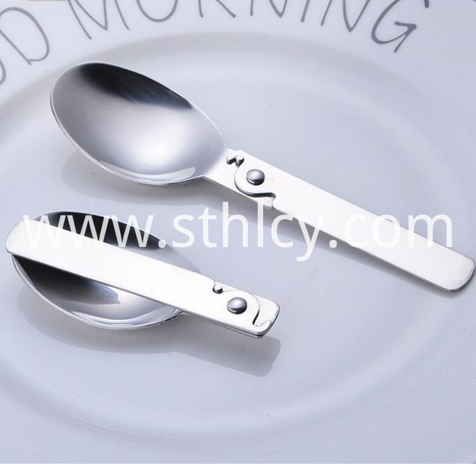 Stainless Steel Folding Spoon