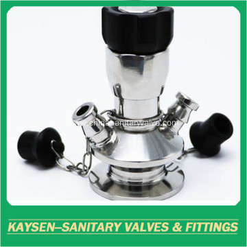 Sanitary stainless steel aseptic sampling valve with chain