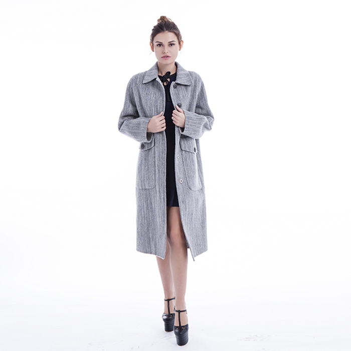 Fashionable Light Grey Winter Coat