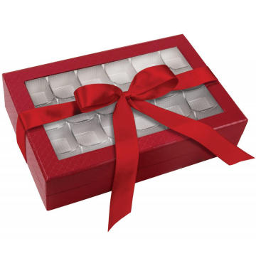 Good looking cardboard chocolate box with plastic tray
