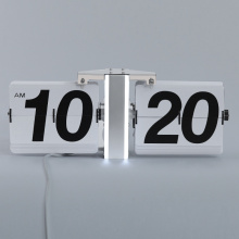LED Light Flip Clock for Wall Decoration