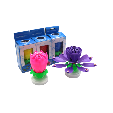 lotus magic musical rotating birthday candle hot sale