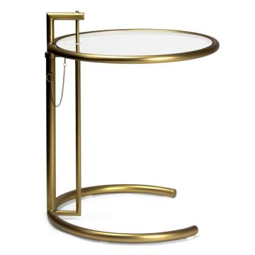 Eileen gray Side Table by Champagne finish