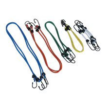 High Elasticity Bungee Cords Elastic Rope with Plastic Hooks