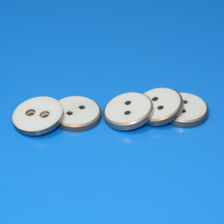 Metallized ceramic disc