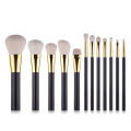 premium goat hair black glitter makeup brushes