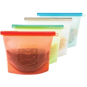 Colorful Silicone Reusable Ziplock Bag For Tea