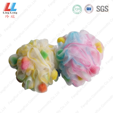 Beautiful sponge mesh bath ball