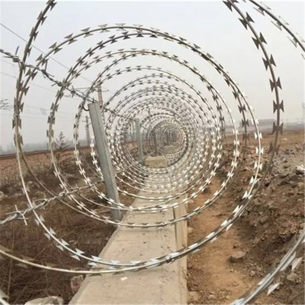 Razor Barbed Wire With Single Cross Coil China Manufacturer