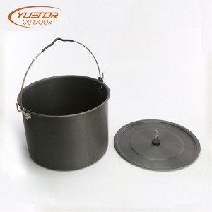 Outdoor Picnic Camping Tribal Pot With Folding Handle