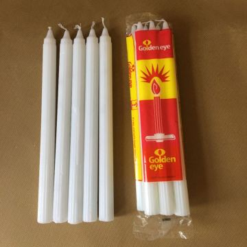 65G Daily Use White Plain Fluted Candles
