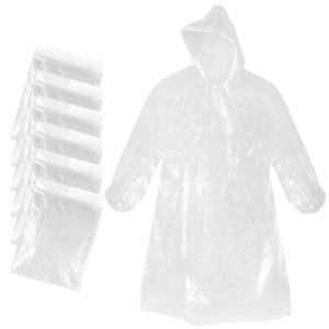 Hot New Products for Kids PVC Raincoat Disposable Clear Adult Ponchos with Hood supply to Andorra Importers