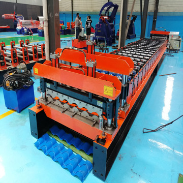 Glazed Metal Tile Roll Forming Making Machine