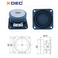 Hot Sale for Wireless Subwoofer 62mm 4ohm 10w rms ferrite square bass loudspeaker export to Qatar Manufacturer