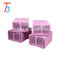 Foldable Shoe Storage Box with breathable mesh