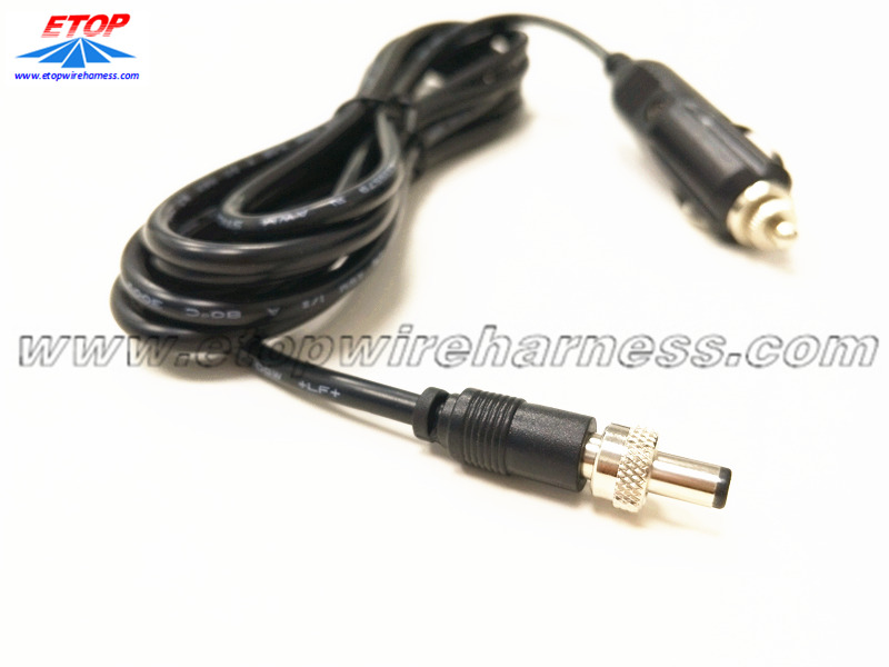 cigarette lighter cable to DC cable