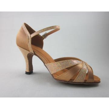 Hot Sale for Ladies Latin Shoes,Ladies Ballroom Shoes,Salsa Shoes Womens Manufacturers and Suppliers in China Flesh satin salsa shoes womens supply to Sudan Supplier