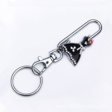 Dress Shape Alloy Keychain Buckle Custom Keychains Bulk