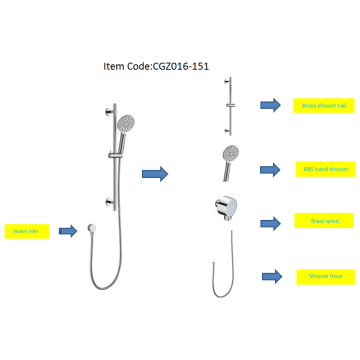 Shower Set In Chrome Plating