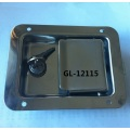 Stainless steel flush mount truck paddle latch with locking