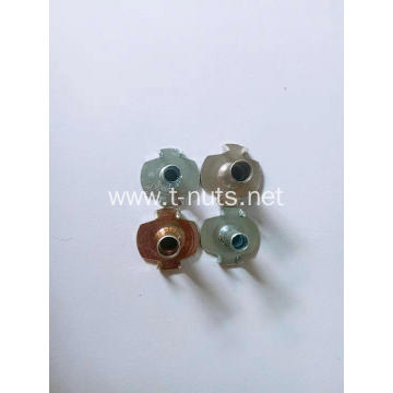 M4 large flange color zinc plating tee nuts