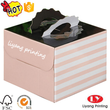 Luxury custom design handle cake box