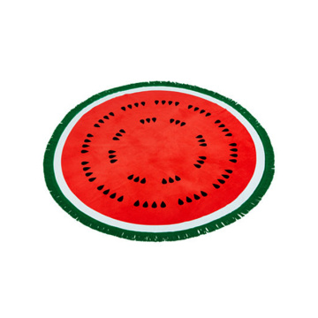 watermelon shaped round beach towel