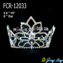 Hot 2015 Cheap Rhinestone Full Round Crowns