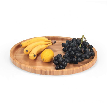 Large Size Bamboo Serving Tray, Oval, 15.5 x 11.8 x 0.8 Inches: Serving Trays